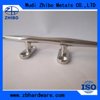 open base stainless steel yacht cleat for sale