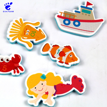 Wholesale cute stick on wall EVA foam swimming bath toys for toddlers