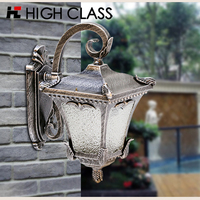 Classic Aluminum Garden Park Yard Waterproof Lamp Rainproof IP65 E27 LED Outdoor Wall Light