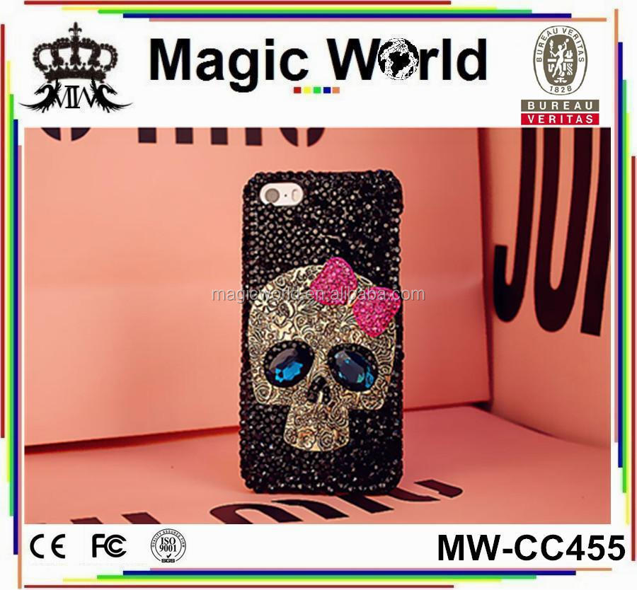 JEWELED CUSTOMIZED SKULL 3D CELL PHONE CASE