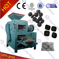 Double-roll type charcoal white coal briquetting press machine