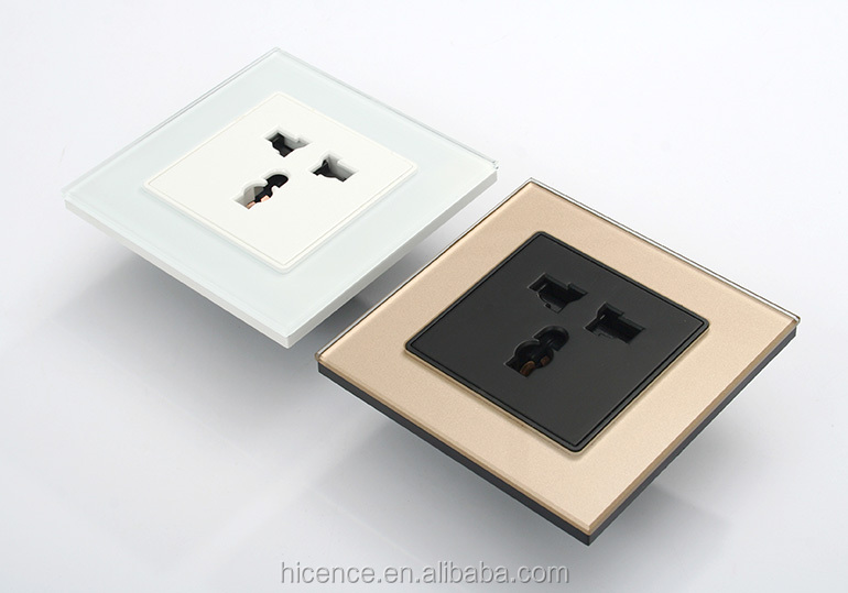Tempered Crystal Glass Elegant Wall electrical Plug Socket Switch