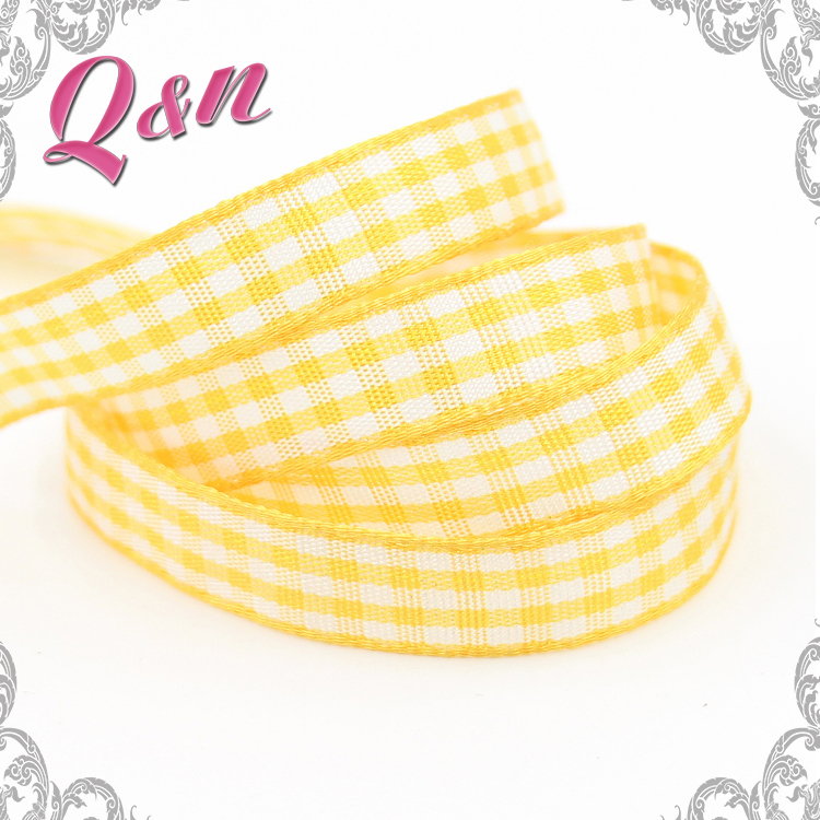 Direct factory colorful tartan design series taffeta ribbon