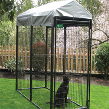 2017 good-looking low price popular easily clean practical safe wrought iron/ steel fence dog cages /kennels