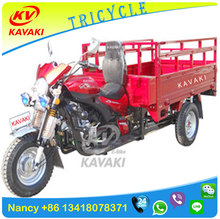 Guangzhou KAVAKI motor Factroy sale gasoline 200cc Cargo Tricycle