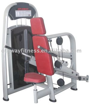 seated triceps extension fitness equipment