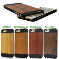 wood mobile cover engrave for custom design , oem blank wood phone housing for iphone 6