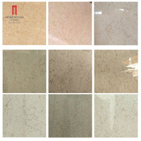 More Choices Egyptian Sunny Gold Beige Galala Composite Marble Tile for Flooring Design