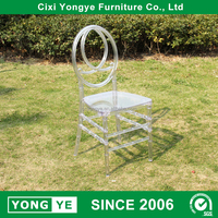 clear crystal stacking resin phoenix chair