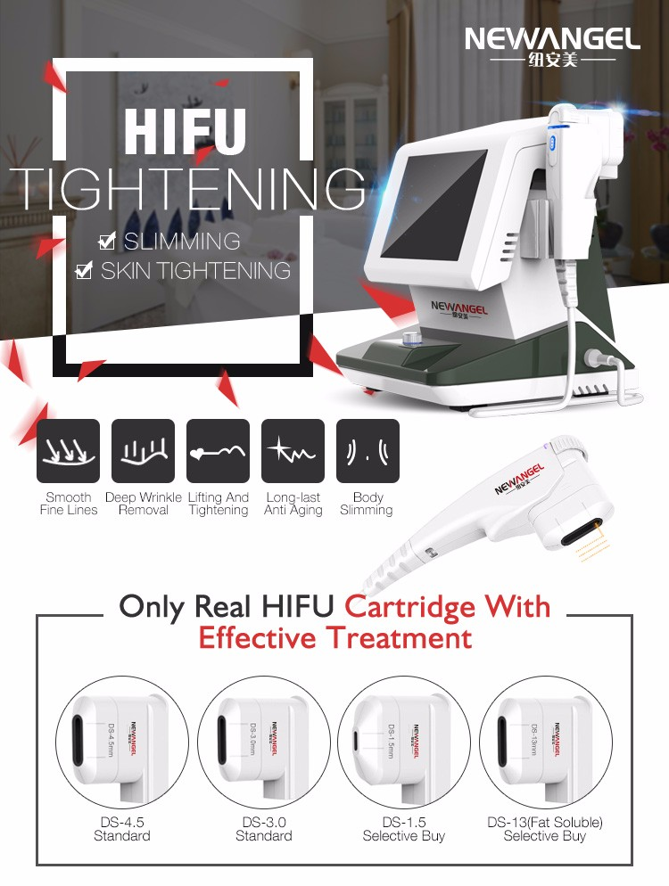 Advanced portable newest face wrinkle removal skin lifting hifu reverse age