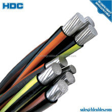e-a2y 0.6/1kv aerial bundle cable 4x95 PE bundled cable 4*25 50 70 95 LV Aluminum insulated alloy messenger