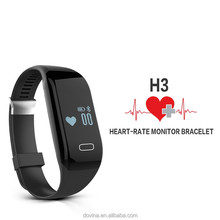 Best Exercise Tracking Device H3 /Heart Rate Monitor H3 Fitbit Smart Watch for IOS/Android