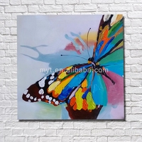 Beautiful butterfly handmade butterfly oil painting modern home decor bedroom decorating canvas art flying butterfly