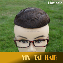 Toupee/Topper Premium Quality Hot Sale French Lace with PU all Around Hair System for Men