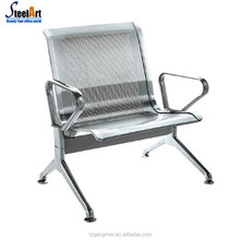 Public area airport stainless steel waiting chair