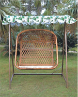 Bamboo Rattan Chair Cushion with Stand Bamboo Furniture Hammock Double Seats