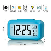 Free shipping silicone clock with light battery operated 24 hour clock movement bedroom digital clock