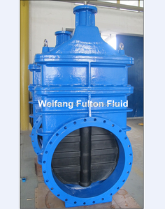 Ductile cast iron resilient seated non rising stem wedge gate valve PN16