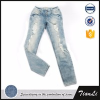 Denim Fabric New Model Jeans For Lady