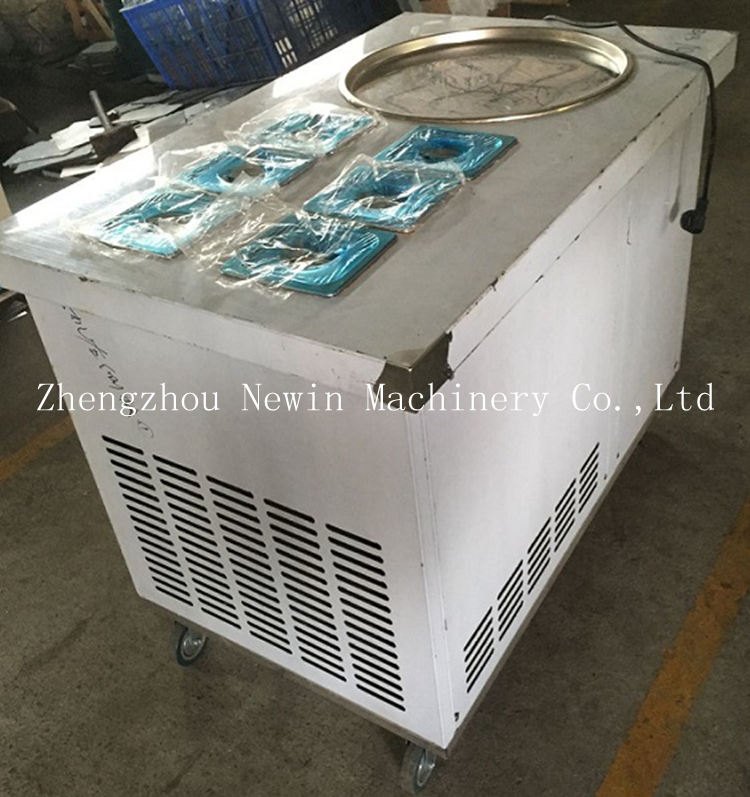 Commercial use thailand ice cream rolls pan fried ice cream machine for sale