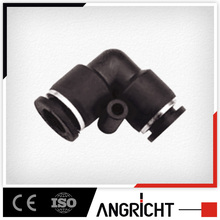 A105 pneumatic plastic union reducing 90 degree elbow connector push in fitting
