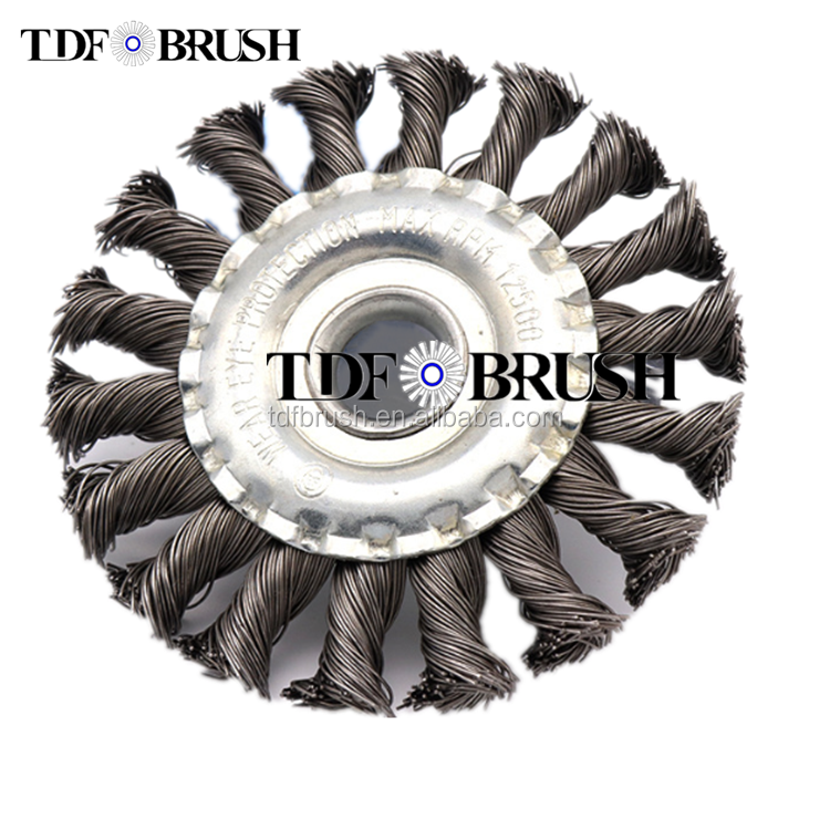 TDFbrush Twist Knotted Steel Wire wheel <strong>Brush</strong>