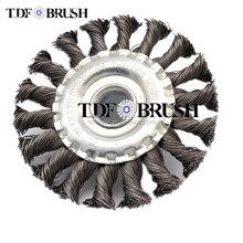 TDFbrush Twist Knotted Steel Wire wheel Brush