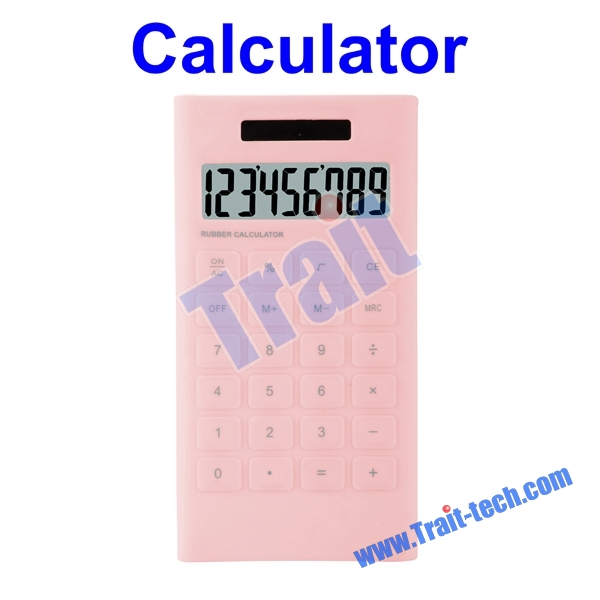 Useful Rubber 10 Digits Portable Mini Calculator Solar Calculator