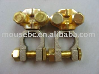 Brass battery terminals for cars