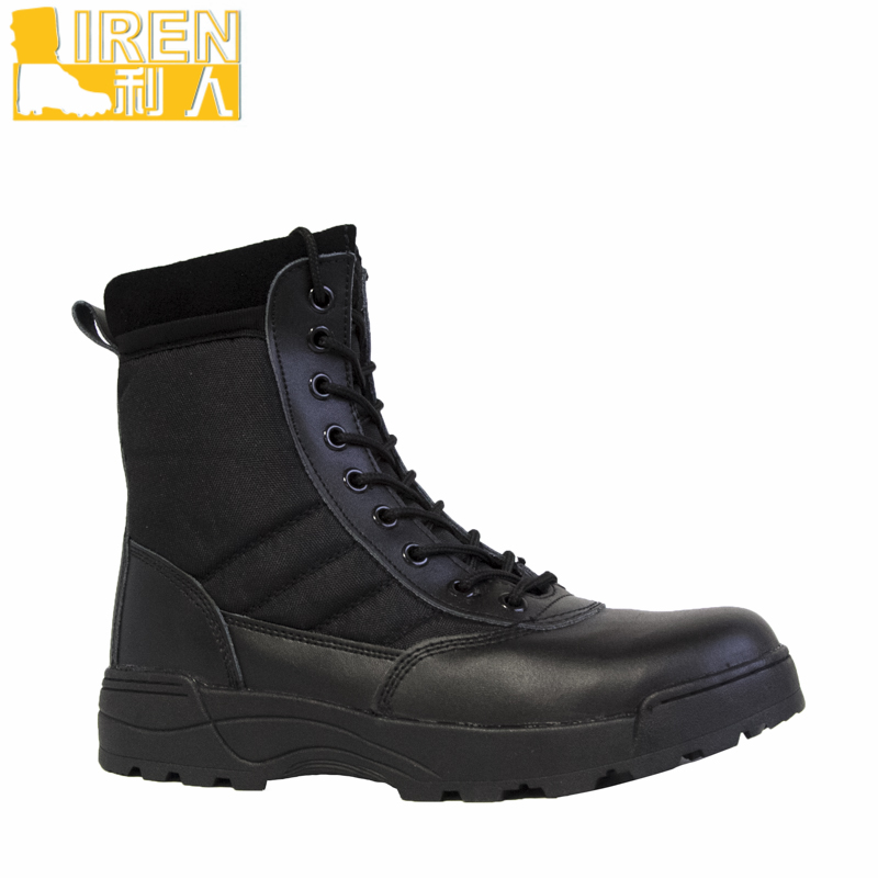 Comfortable traffic leather motorcycle cheap police boots