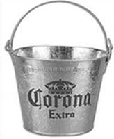 5L Galvanized Champagne Ice Bucket for Parties or Planter Pail