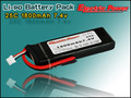 Hot Sale Li ion Battery/ Lipo Battery /Li-polymer Battery 7.4V 2S 1800Mah 25C 30C For Helicopter Boat