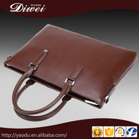 High quality multi-functions full grain genuine leather hand bags for men