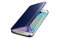 For Samsung Galaxy s7 edge Clear View PC Cover Auto Sleep Wake Mirror Flip Leather Cases