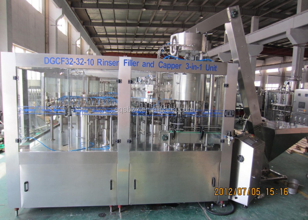 Carbonated Drink Filling Machine, Bottling Machine, DCGF32-32-10, Glass Bottle
