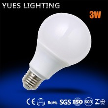3W bulb led lights A65 85-240V E27 made in prc factory direct