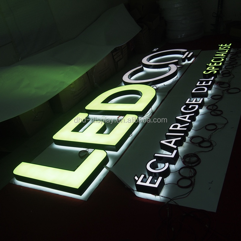 Luminous 3d acrylic illuminated letter from BEST channel manufacturers