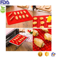 custom any size cheap bread/cake/pizza non-stick pyramid pan silicone baking mat