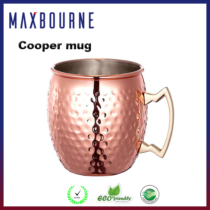 Factory wholesale manufacturer mo-scow mule copper mug with handle