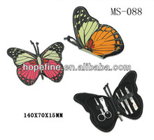 New style colorful butterfly manicure set
