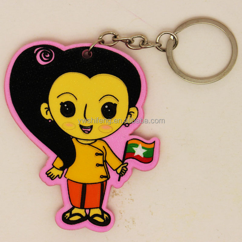 Hot selling charm purse hanging key chain