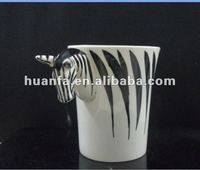Specaily shape animal handle porcelain coffee mug for drinking coffee