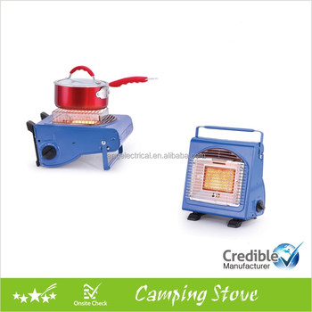 Dual functional portable camping stove, outdoor heaters, gas heaters