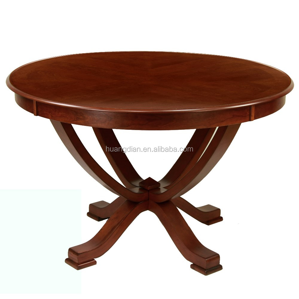 Custom Made Modern Classic Furniture Cherry Wooden Round Table Top Coffee Dining Table View