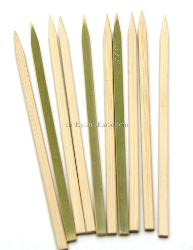 Natural conventional thin flat BBQ bamboo sticks