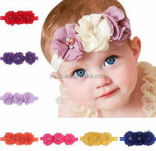 factory supply baby headband chiffon flower headband 14 colors in stock