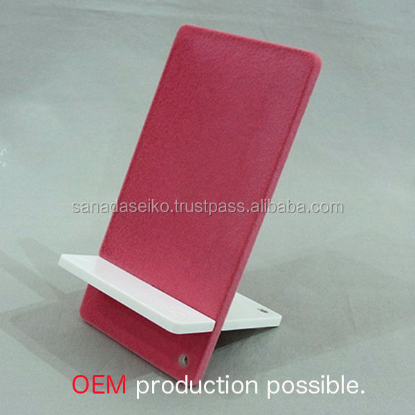 SMARTPHONE STAND ( hair planted resin material ) | Sanada Seiko Plastic High Quality produced in japan | 6 inch smartphone