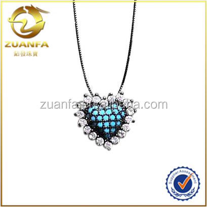 wholesale 925 sterling silver necklace nano turquoise stone jewelry