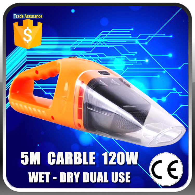 Super Value Wet And Dry Dual Use Vacuum Cleaner Super Suction 120W 5 Meters Carble DC 12V Car Vacuum Cleaner for Car Wash