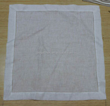 wholesale pure linen wedding napkins with dot hemstitch free shipping for Australia